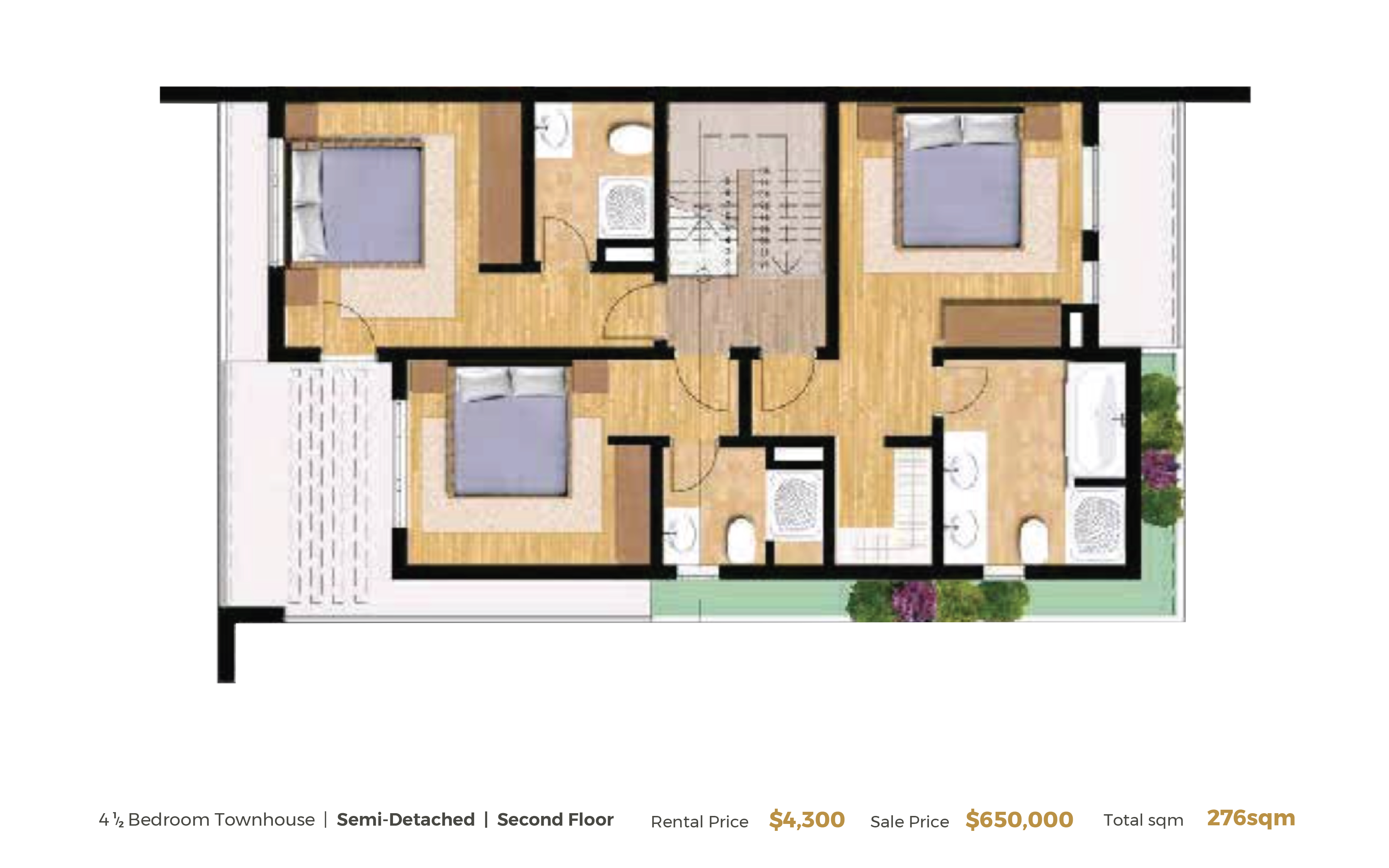 Semi-Detached-2nd Floor